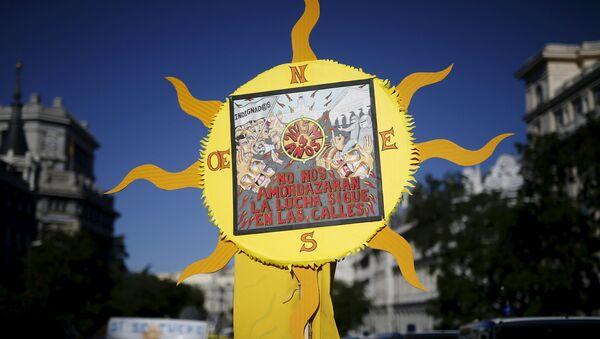 Manifestación organizada por el movimiento 15M - Sputnik Mundo