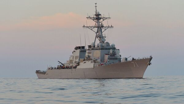 Destructor estadounidense 'USS Ross' - Sputnik Mundo