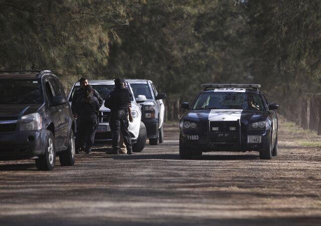 Policía federal de México en el estado de Michoacán