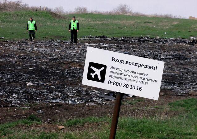 Lugar del siniestro del Boeing MH17