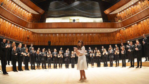 Cristina Kirchner con Orquesta Sinfónica Nacional de Argentina - Sputnik Mundo