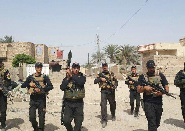 Soldados iraquíes en la ciudad de Amiriyat Faluya (archivo)