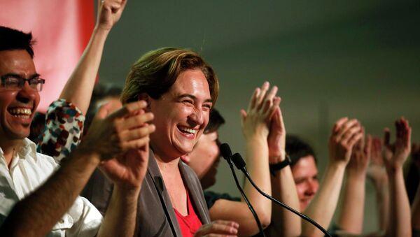 Ada Colau, leader and local candidate of Barcelona en Comu party - Sputnik Mundo