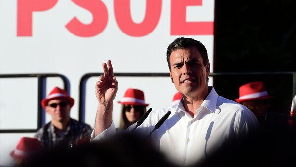 Pedro Sánchez, secretario general de los socialistas españoles - Sputnik Mundo