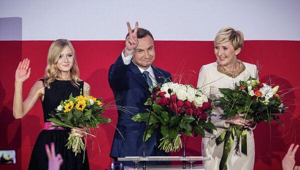 Andrzej Duda, candidato por el partido opositor Derecho y Justicia - Sputnik Mundo