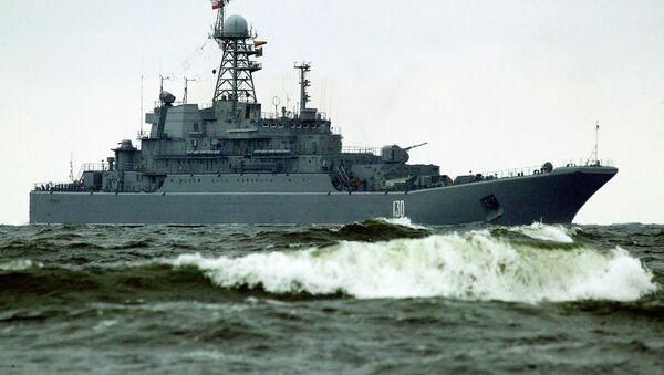Buque anfibio Koroliov de la Flota rusa del Báltico - Sputnik Mundo