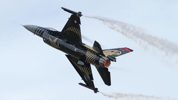 Caza F-16C de la Fuerza Aérea Turca - Sputnik Mundo