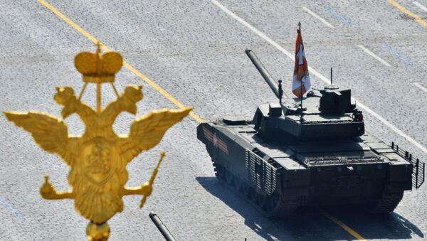 Carro de combate Armata (T-14) durante el Desfile de la Victoria en la Plaza Roja - Sputnik Mundo