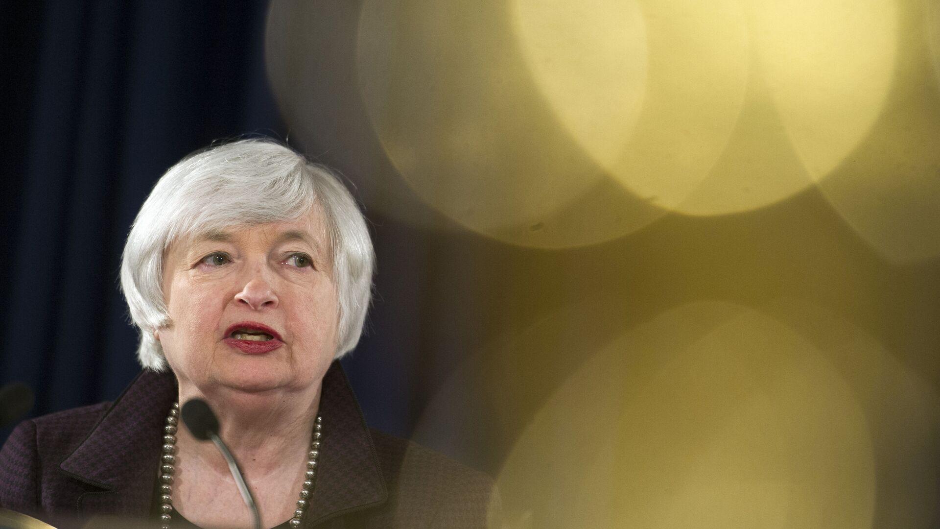 Глава ФРС США Джанет Йеллен в Вашингтоне  - Sputnik Mundo, 1920, 19.02.2021