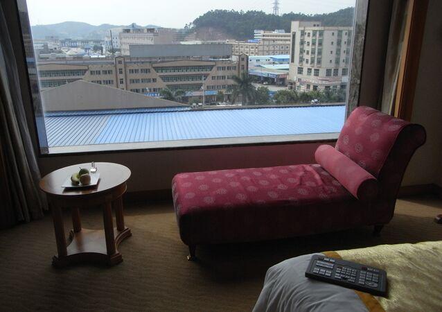Una habitación de Crown Prince Hotel Dongguan