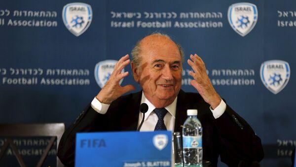 Sepp Blatter, presidente de la FIFA - Sputnik Mundo