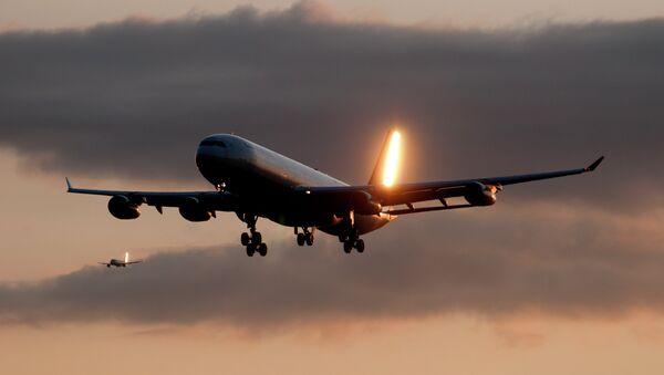 Un avión de pasajeros - Sputnik Mundo