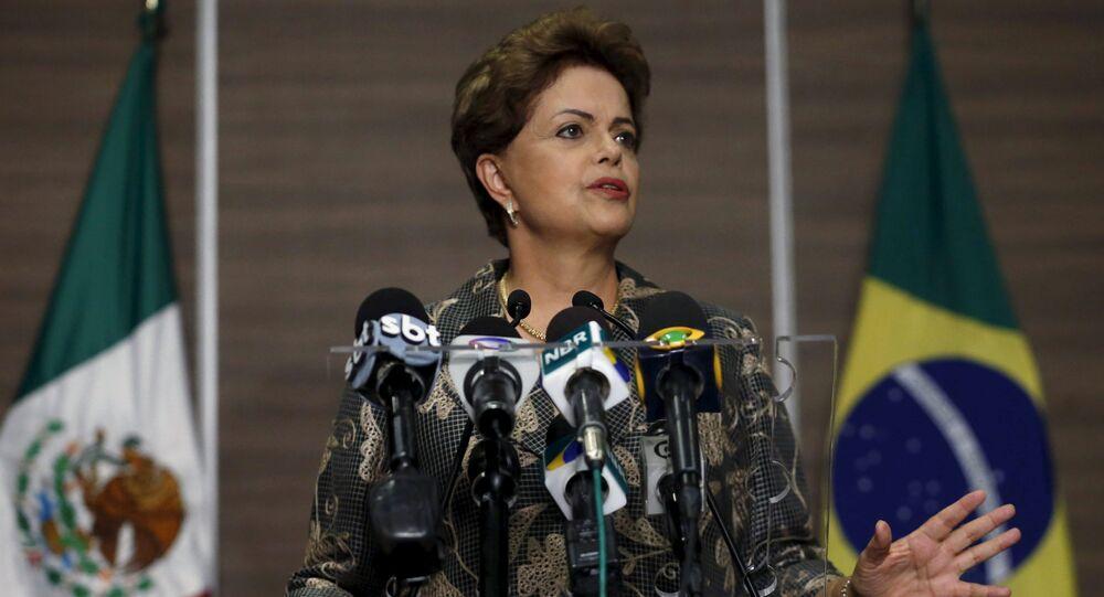 Dilma Rousseff, presidenta de Brasil, durante su visita a México