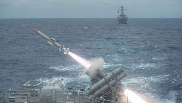 Misil antibuque Harpoon de EEUU - Sputnik Mundo