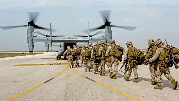 Marines estadounidenses en la base de Morón de la Frontera - Sputnik Mundo