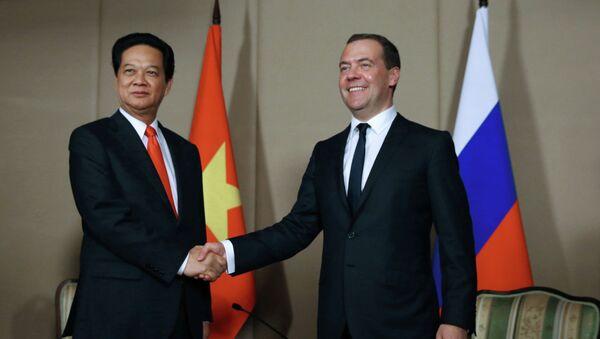 Primer ministro de Vietnam, Nguyen Tan Dung, y primer ministro de Rusia, Dmitri Medvédev - Sputnik Mundo