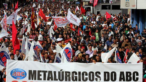 Protestas en Brasil - Sputnik Mundo