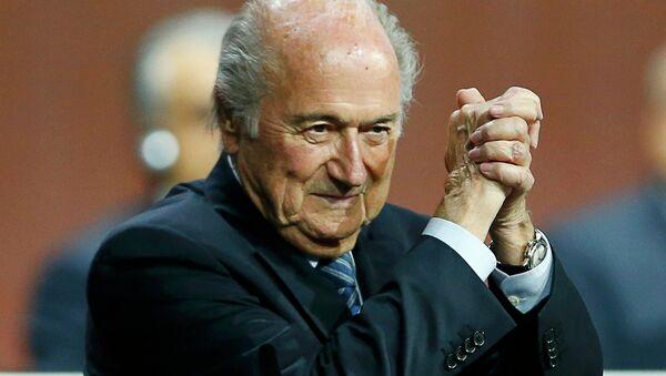 Joseph Blatter, presidente de la FIFA - Sputnik Mundo