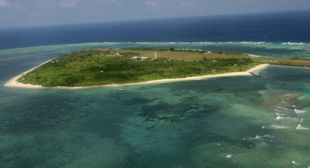 La isla Titu, del archipielago Spratly