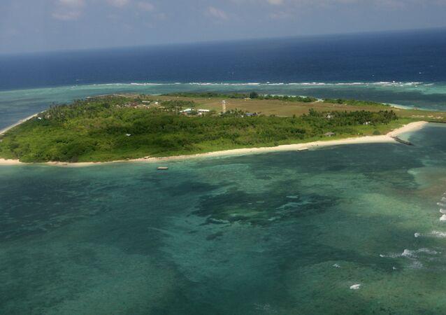 Islas disputadas de Nansha, también conocidas como Spratly (archivo)