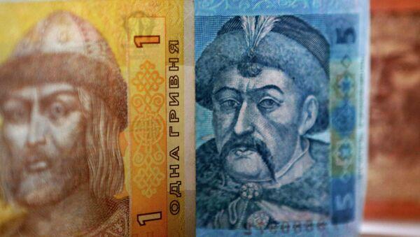 Денежные купюры и монеты США и Украины - Sputnik Mundo