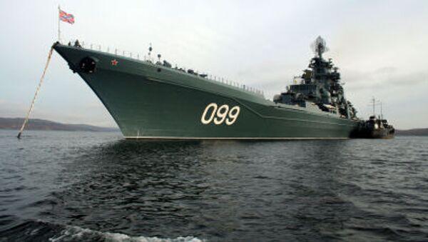 Crucero pesado Piotr Veliki de la Flota rusa del Norte - Sputnik Mundo