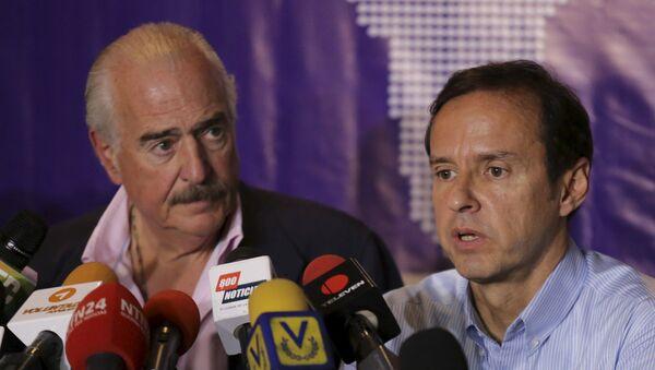 Ex presidente de Colombia, Andrés Pastrana, y ex presidente de Bolivia, Jorge Quiroga - Sputnik Mundo