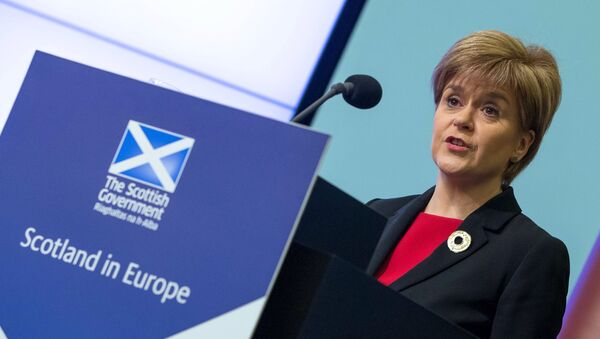 Nicola Sturgeon, ministra principal de Escocia - Sputnik Mundo