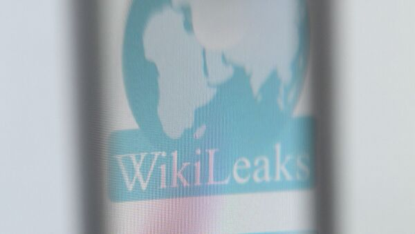 The logo of the website specialised in publishing secret documents WikiLeaks - Sputnik Mundo