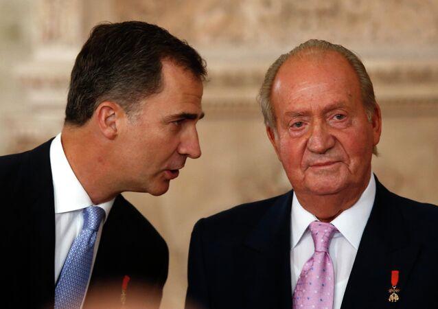 Rey Felipe VI y su padre Juan Carlos I