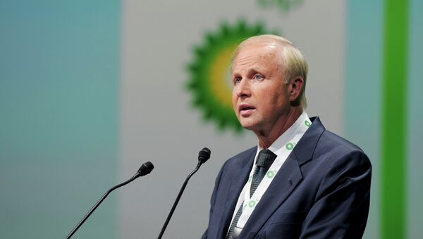 British energy giant BP CEO Bob Dudley addresses a keynote speech during the World Gas Conference in Paris on June 2, 2015.  - Sputnik Mundo
