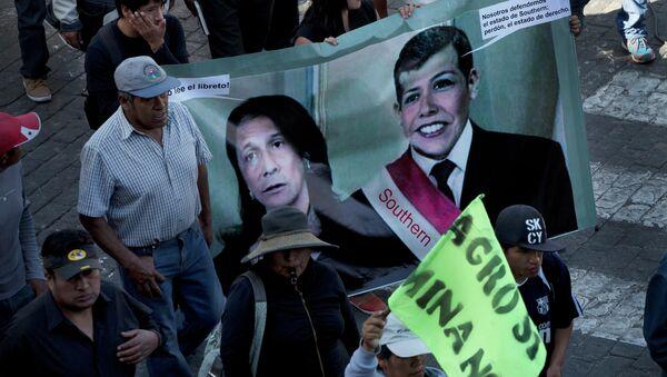 Manifestación de protesta en Arequipa, Perú - Sputnik Mundo