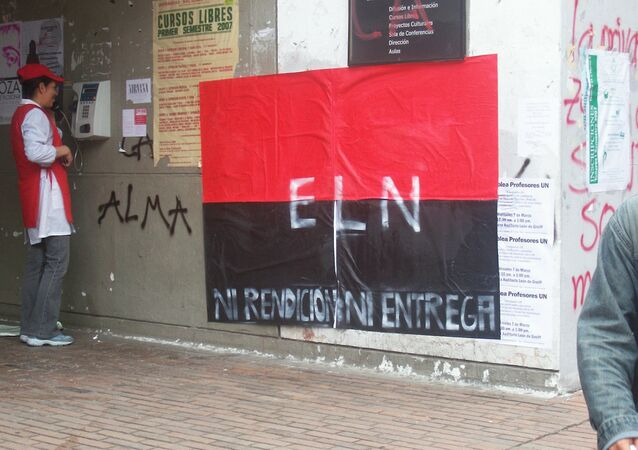 ELN guerrilla póster