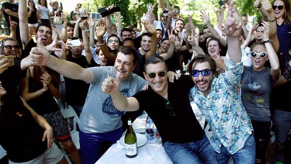 Equipo del restaurante El Celler de Can Roca celebra su número uno mundial - Sputnik Mundo