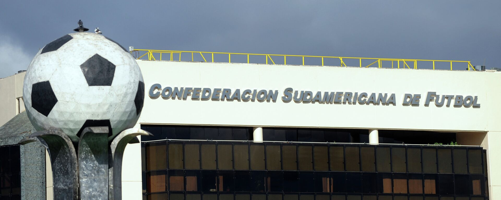 The South American Football Confederation (Conmebol) headquarters on May 28, 2015 in Luque, Paraguay.  - Sputnik Mundo, 1920, 04.05.2021