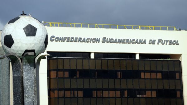 The South American Football Confederation (Conmebol) headquarters on May 28, 2015 in Luque, Paraguay.  - Sputnik Mundo