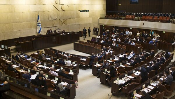 Plenum during a session at the Knesset, the Israeli parliament, in Jerusalem May 13, 2015 - Sputnik Mundo