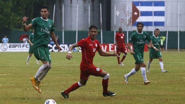 Futbolistas del equipo nacional de Cuba y de New York Cosmos - Sputnik Mundo
