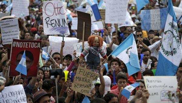 Marcha anticorrupción en Guatemala - Sputnik Mundo