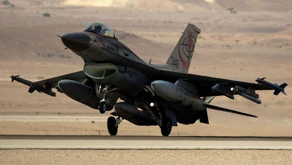 F-16 de las fuerzas aéreas israelíes, foto archivo - Sputnik Mundo