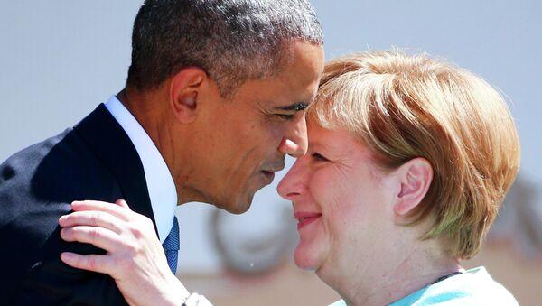 Presidente de EEUU, Barack Obama y canciller de Alemania, Angela Merkel - Sputnik Mundo
