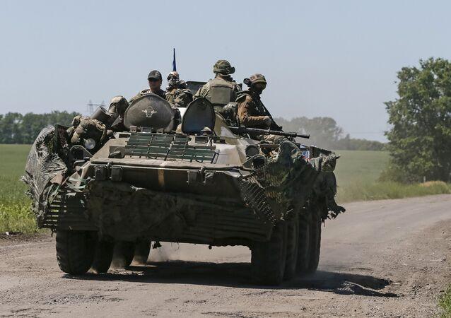 Militares ucranianos cerca de Donetsk (archivo)