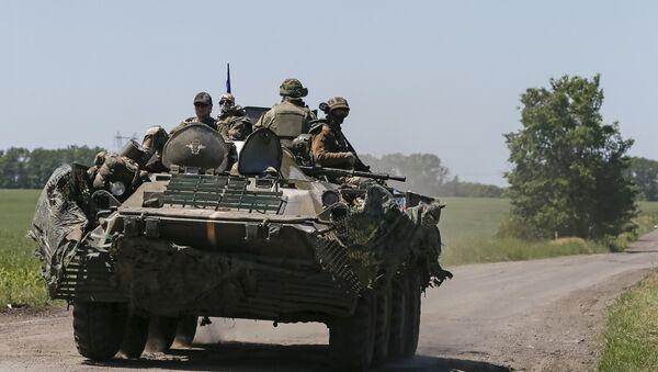 Militares ucranianos cerca de Donetsk (archivo) - Sputnik Mundo