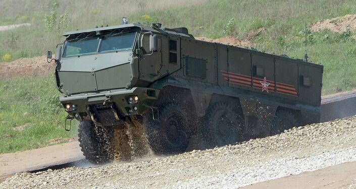 El vehículo de combate sobre ruedas Taifún