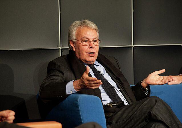 Felipe González, expresidente del Gobierno español