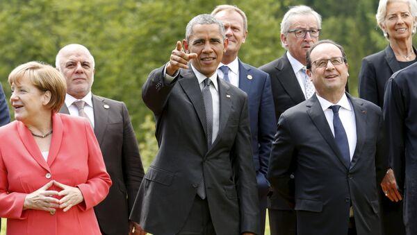 Líderes de los países participantes de la cumbre del G7 en Alemania - Sputnik Mundo