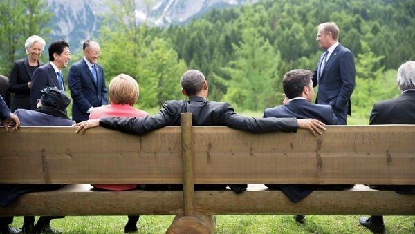 Presidente de EEUU, Barack Obama, y los líderes de G7 durante la cumbre de la ente en Baviera (Archivo) - Sputnik Mundo