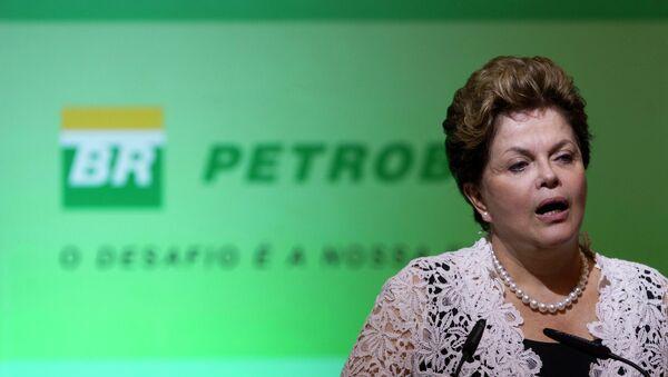 Ceremonia de introducción de nueva presidenta de Petrobras Maria das Gracas Foster, 2012 - Sputnik Mundo