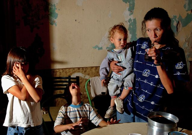 Una familia pobre en Buenos Aires