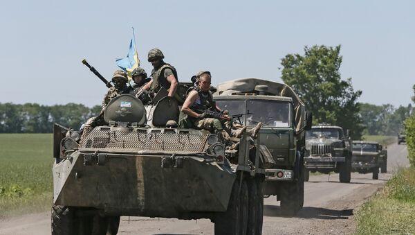 Soldados ucranianos cerca de Donetsk, 7 de junio de 2015 - Sputnik Mundo